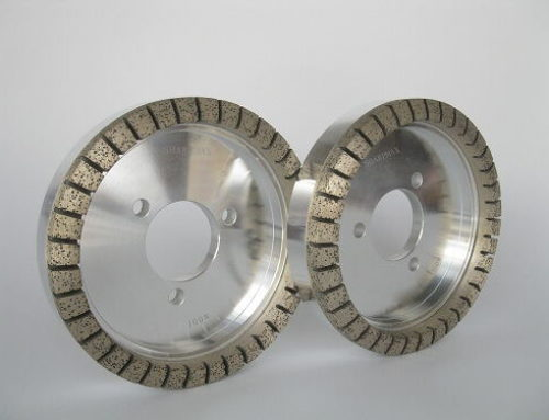 Diamond wheels with full segments for glass edging machines